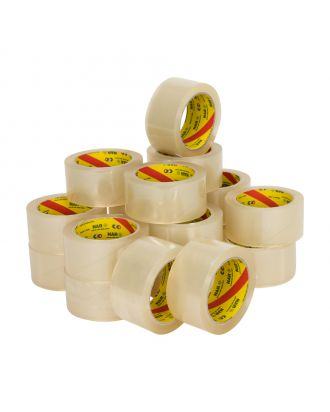 PP Acryl Tape Low Noise (NAR), Transparant, 50 mm x 66 meter