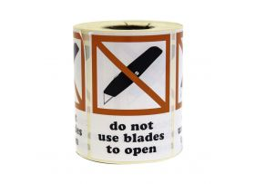 Niet snijden etiketten