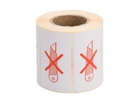 Niet snijden etiketten, 70 x 45 mm, 500 stuks