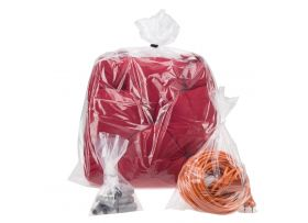 Plastic zakken (PE), Transparant, 10 x 2,5 x 25 cm, 20 micron