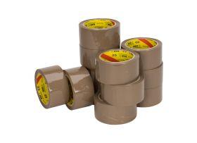 PP Solvent Tape (NAR), Bruin, 50 mm x 66 meter
