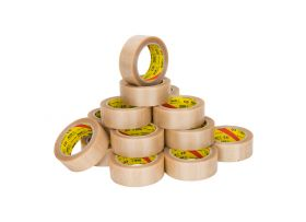 PVC Tape, transparant, 38 mm x 66 meter
