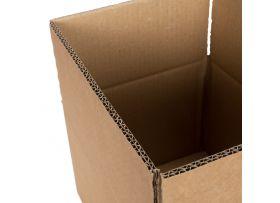 Kartonnen Dozen, Dubbelgolf, 800 x 500 x 250 mm, Bruin