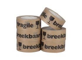 Papieren Tape 'Breekbaar Fragile', 50 mm x 50 meter