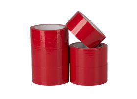 PP Acryl Tape Low Noise, Rood, 50 mm x 66 meter